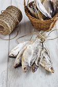 Dried Fish In A Basket