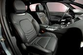 foto of luxury cars  - Front Leather seats of a luxury car - JPG