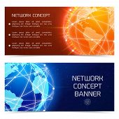 Network globe concept banners