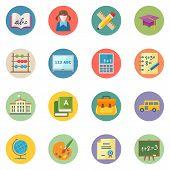 Flat Education Icons Set 1 - Dot Series