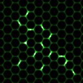 foto of honeycomb  - Green honeycomb seamless pattern background alien style - JPG