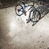 Bicycles Under The Rain