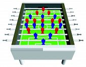 Table Football Soccer Game Perspective Vector