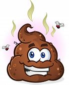 image of excrement  - A steaming pile of smelly brown poop with a big smile - JPG
