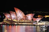 Sydney Opera House Lit With Vibrant Colours And Patterns During Vivid Sydney Festival