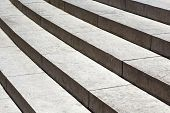 Closeup On Granite Stairs