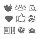 vector illustrations icons social networking interface