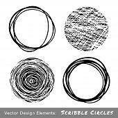 Set of Hand Drawn Scribble Circles