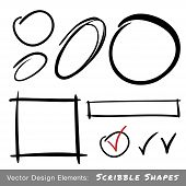Set of Hand Drawn Scribble Shapes