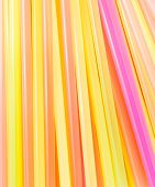 Drinking Straws Colorful For Background