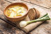 National Ukrainian Soup With Galushky.