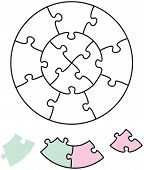 Jigsaw Puzzle Two Circles
