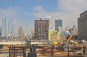 New York, Usa - October, 5: New York City Panorama Viewed From Construction Site In October 5, 2013