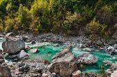 stock photo of albania  - Valbona river in Northern Albania tourist attraction - JPG