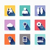 Set Design Concept Icons And Apps. Icons For Web Design And Infographic.vector Illustration.