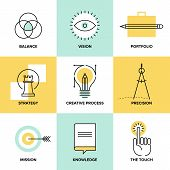 stock photo of solution  - Creative design process concept with web studio development elements  - JPG