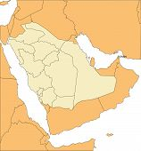 Saudi Arabia, Administrative Districts, and Surrounding Countries