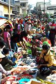 Traditional Morning Myanmar Market.