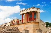 picture of minos  - ancient ruines of famouse Knossos palace at Crete - JPG