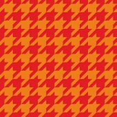 Houndstooth tile vector pattern. Traditional Scottish plaid fabric for colorful seamless background