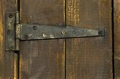 Old Wooden Door With Hinge