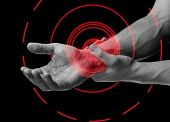 Pain In Wrist Area, Pain Area Of Red Color