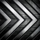 stock photo of ironworker  - metal background with arrow pattern  - JPG