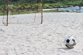 Football On The White Beach