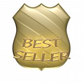 Best seller product badge as a shield