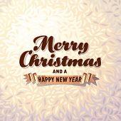 Christmas card on fur background