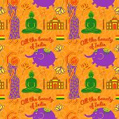 India vector seamless pattern