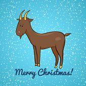 Beautiful cute vector goat, symbol of the new year
