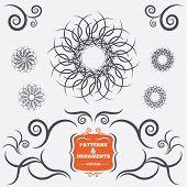 Vintage geometric ornaments. Decorative design.