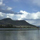 Sandy Mountain And Lake