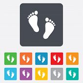 picture of footprint  - Child pair of footprint sign icon - JPG