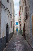 Narrow Street In Essaouira, Morocco