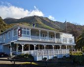 Historic Governors Bay Hotel In Winter