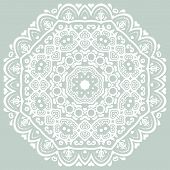 Oriental  ornamental round lace