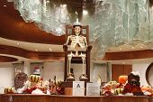 Chocolate Skeleton at display for Halloween at Aria Resort and Casino Las Vegas