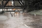 River Ticino Overflow In Sesto Calende, Varese