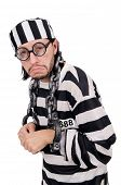 pic of inmate  - Prison inmate isolated on the white background - JPG