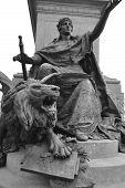 Bronze Lion Statue.