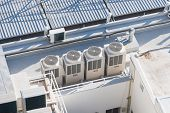 image of roofs  - Air conditioning system on the roof of building - JPG