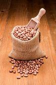 Pinto Beans In Burlap Bag