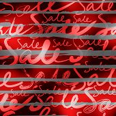 Red Sale striped background