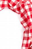 cloth napkin isolated on white background