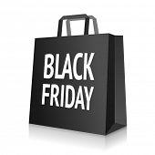 Black Friday bag icon