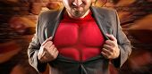 Superhero inside th businessman