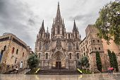 Barcelona Cathedral, Located In Gothic Quarter