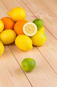 halved citrus fruits